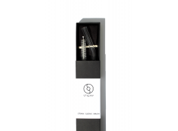 Stream straws - Smothie bent m/black sleeve - sugerør i herdet glass