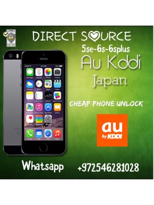 KDDI JAPAN IPHONE UNLOCK 6s 6splus 5se only