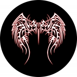 Tribal Angel Wings Spare Tire Cover