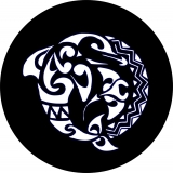 Tribal Dolphin Spare Tire Cover