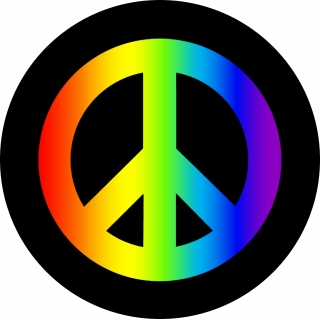 Rainbow Peace Symbol Tire Cover