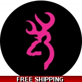 Pink Deer Head Spare Tire Cover