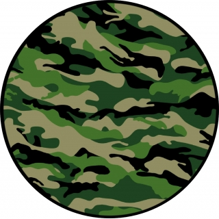 Green Camouflage Spare Tire Cover