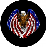 Eagle Wings Flag Spare Tire Cover