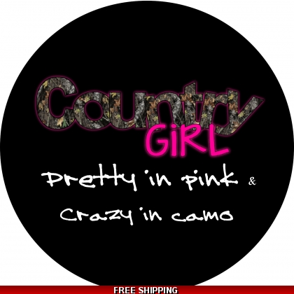 Country Girls Crazy in Camo tire cover