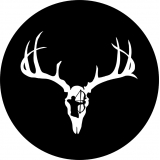 Deer Skull Bow Hunter Spare Tire Cover