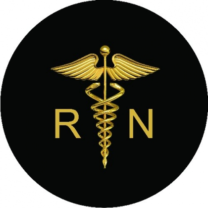 Registered Nurse Logo Spare Tire Cover