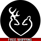 Deer Head Heart Pattern spare tire cover
