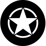White Jeep Star Spare Tire Cover