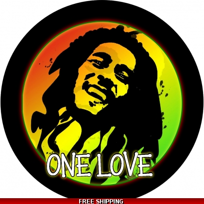 Bob Marley One Love Spare Tire Cover