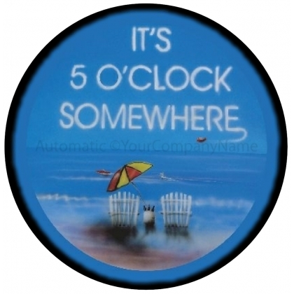 It's Five O'Clock Somewhere Blue Spare Tire Cover