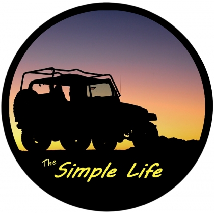 Jeep Silhouette The Simple Life Spare Tire Cover