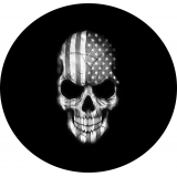 Black and White Flag Skull tire cover