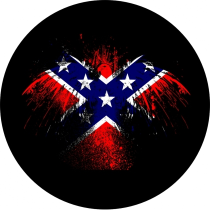 Rebel Flag Eagle Wings Tire Cover