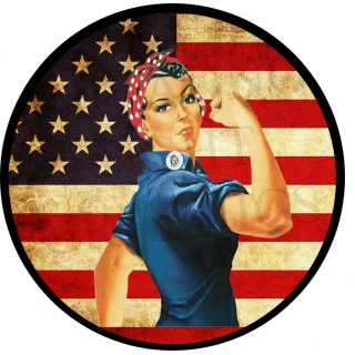 Rosie The Riveter Vintage Flag Spare T..