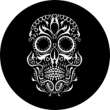 Black and White Sugar Skull Tire Cover