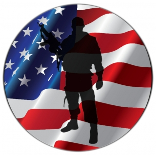 Soldier Silhouette American Flag Tire ..