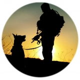 Military K-9 Silhouette Spare Tire Cover