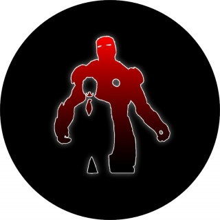 Iron Man Style Silhouette Spare Tire C..