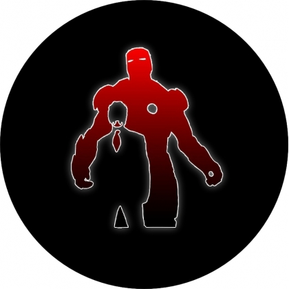 Iron Man Style Silhouette Spare Tire Cover