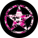 Jeep Star Pink Camo Tire Cover JA