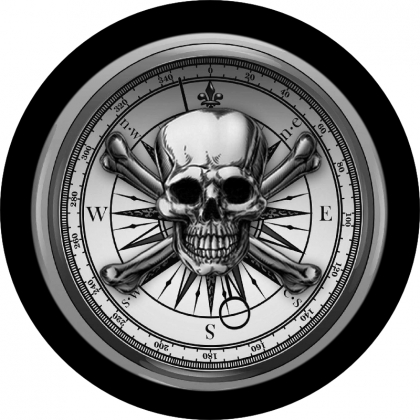Skull Compass Spare Tire Cover