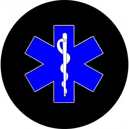 Star of Life EMT Spare Tire Cover