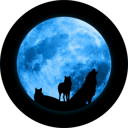 Spare Tire Covers Wolves Howling at the Moon