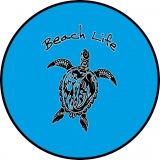 Beach Life Tribal Turtle Spare Tire Co..