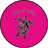 Beach Life Tribal Turtle Pink spare ti..