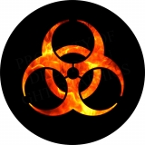 Bio Hazard Flame Spare Tire Cover