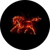 Flaming Horse Spare Tire Cover