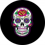 Sugar Skull Rose Spare Tire Cover