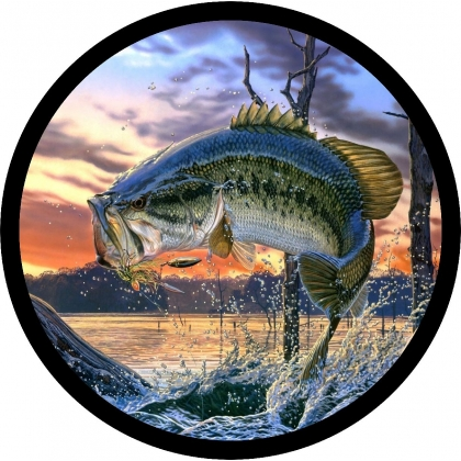 Jumping Bass Spare Tire Cover