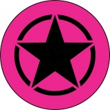 Pink with Black Jeep Star Tire Cover
