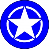 Blue with White Jeep Star Spare Tire C..