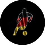 German Flag Soccer Player Tire Cover