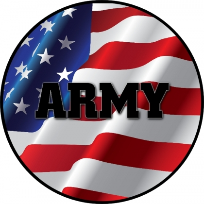 Army on American Flag Spare Tire Cover