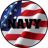 Navy on American Flag Spare Tire Cover