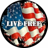 Live Free Vintage American Flag Tire C..
