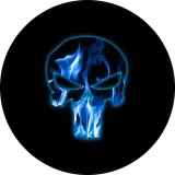 Punisher Skull Blue Flame Spare Tire C..