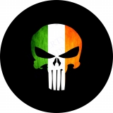 Punisher Skull Italian Flag Spare Tire..