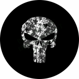 Punisher Skull White Camo Spare Tire C..