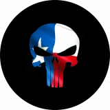 Punisher Skull Texas Flag Spare Tire C..