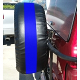Thin Blue Line Spare Tire Tread Cover