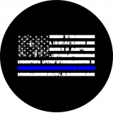 Thin Blue Line Flag Spare Tire Cover