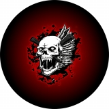 Red Vampire Hunter Skull Tire Cover