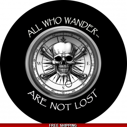 All Who Wander Are Not Lost spare tire cover