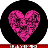 Pink Heart Collage Spare Tire Cover