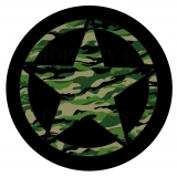 Jeep Star Green Camo Spare Tire Covers..